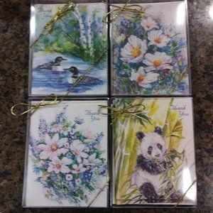 Blank Greeting Cards 4 Boxes, 1 Landscape 2 Floral